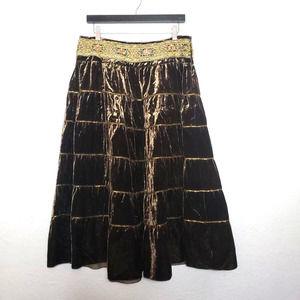 NEW! ABS Velvet Beaded Skirt - 12